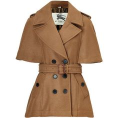 BURBERRY LONDON Amber Belted Wool Wilderley Jacket Trendy meets Classic with this short, Wool Jacket. Designed with traditional trench features including a wide lapel, shoulder flaps, double-button packet and waist belt. Features short sleeves, short cut and back yoke. Pair with a leather pencil skirt, cashmere dress or slim pants to capture a sophisticated look. Material: 100%Wool. 1,200 USD ❤