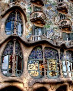 Gaudi in Barcelona, Spain
