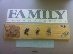 Family Birthday Board  DIY Kit by SignChik on Etsy