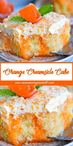 Orange Creamsicle Cake Orange Creamsicle Cake,cake This easy Orange Creamsicle Poke Cake is a wonderful addition to all your summer parties! A lovely vanilla cake that is bursting with orange flavor and topped with. Poke Cake Recipes, Poke Cakes, Cupcake Cakes, Dessert Recipes, Cupcakes, Layer Cakes, Easy Desserts, Delicious Desserts, Yummy Food