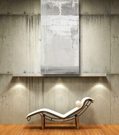 white painting original abstract fine art modern minimalist urban loft gray textured impasto 24 x 48 contemporary art home decor wall art by CherylWasilowArt on Etsy https://www.etsy.com/listing/490266154/white-painting-original-abstract-fine
