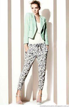 Moda verano 2015. Nuit primavera verano 2015 Colores en tonos pastel y prints.Look casual chic.