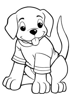 Dog Coloring Pages For Kids - Preschool Crafts