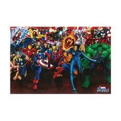 Hot Stuff Enterprise Z005-24x36-NA Marvel Heroes Collage Poster
