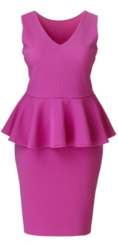 Cute plus size peplum dress - CLICK TO READ ABOUT PEPLUMS at http://boomerinas.com/2012/04/how-to-wear-a-peplum-if-you-have-curves/