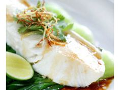 Recipe: Steamed cod with pak choi, soy and ginger