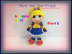 Rainbow Loom Rainbow Brite Doll (Part 2 of - Loomigurumi. Amigurumi Hook Only. (PART 2 Of In this video I will be showing you how to crochet, and complete your Rainbow Brite Doll. Copyright© Looming WithCheryl 2015 Rainbow Brite: Part . Rainbow Loom Bands, Rainbow Loom Charms, Rainbow Loom Bracelets, Rainbow Brite, Rainbow Loom Tutorials, Rainbow Loom Creations, Crazy Loom, Crochet Fairy, Doll Parts