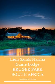 Here you will discover a wonderful sense of remoteness and peace Game Lodge, Best Games, Lodges, South Africa, Lion, Peace, Leo, Cabins, Lions