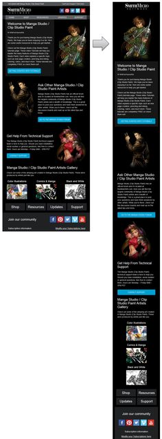 Beautiful Responsive Email Design from SmithMicro. Includes large calls to action, great imagery and HTML text, which make this email very easy to read when images are blocked. Responsive Email, Mobile Responsive, Email Design Inspiration, Email Marketing Design, Best Email, Email Newsletters, Email Templates, Web Design
