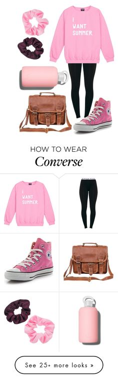 """Studying time‍"" by strawberryjammyy on Polyvore featuring Converse, Mahi, bkr and Mudd"