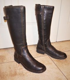 f7f61a6d0b4 Women s Western Leather Born Boots Special Edition Tall Riding Boots Size 9