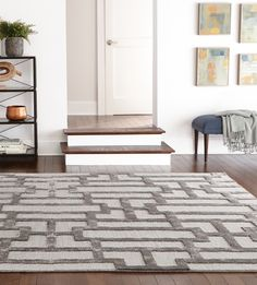 """A geometric design yet simple color scheme means our Classic Area Rug has modern style and timeless appeal. It has a 1/2""""-thick pile so there's plenty of texture underfoot as well."""