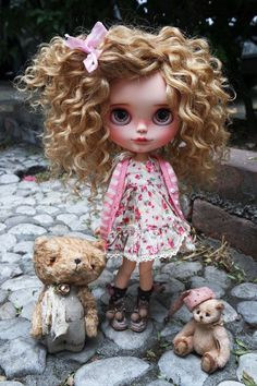 Linda Kawaii Doll, Blythe Dolls, Ooak Dolls, Art Dolls, Pretty Dolls, Beautiful Dolls, Doll Painting, Hello Dolly, Big Eyes