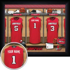 Ryan Would love it!!! PERSONALIZED Louisville Cardinals Locker by GetYourNameInAFrame, $37.95.  MUST GET FOR RYAN'S B-DAY.