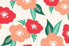 Playful Blossoms pattern by Pace Creative