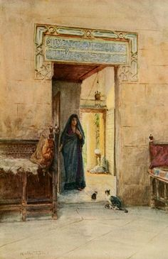 Tyndale, Walter (1855-1943) - An Artist in Egypt 1912, Entrance to the Hareem. #egypt