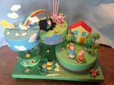 Peppa pig and the rainbow cake By KanDy.KiaraDenise