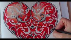 How I color a heart Tutorial 1 Prismacolor Johanna´s Christmas by Johann...
