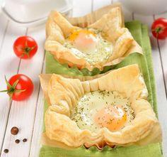 Бутер кошнички с яйца