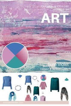 The French 5-Piece Wardrobe - Start with Art: Sure Violet by Helen Frankethaler