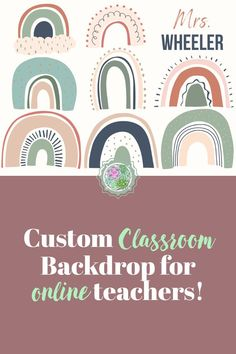 This Boho rainbow background will surely make your kiddos feel happy! This is printed on high quality vinyl with grommets for easy hanging. Classroom Background, Rainbow Background, Vinyl Banners, Light Reflection, Activity Ideas, Feeling Happy, Esl, Background Images, Backdrops