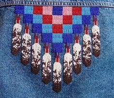 Native American Beaded Medallions | KQ Designs - Native American Beadwork, Powwow Regalia, and Beaded ...
