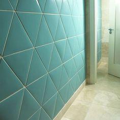 Ceramic wall tile: plain color TRIANGLES EN COULEUR N°131 Normandy Ceramics - Carrelage Design