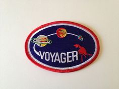 Vintage NASA Voyager Program Space Mission Embroidered Patch Vintage NASA Voyager Program Space Miss Pin And Patches, Iron On Patches, Jacket Patches, Space Patch, James T Kirk, Nasa Clothes, The Adventure Zone, Vintage Space, Patch Design