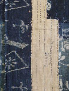 Sri | A Really Beautiful Old Boro Panel: Good Thread Taste
