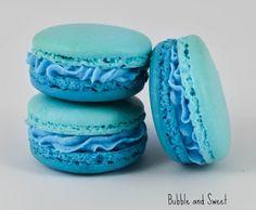 Blue Ruffle Ombre Macaron
