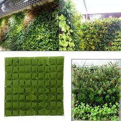 Garden Wall Planter, Vertical Garden Planters, Vertical Gardens, Garden Walls, Garden Pots, Vertical Plant Wall, Jardin Vertical Diy, Outdoor Plants, Outdoor Gardens