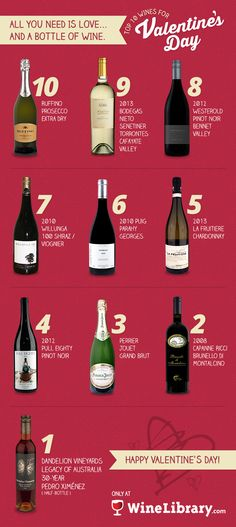 10 AMAZING wines to get you and yours ready for the day of love! enjoy :)