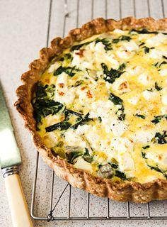 Leek  Chard  Feta Tart #vegetarian #recipe