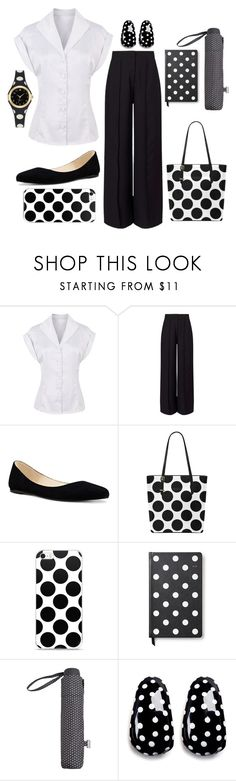 """""""Dots @ the office"""" by paulaj87 ❤ liked on Polyvore featuring Miss Selfridge, Nine West, Kate Spade, MANGO and Kenneth Jay Lane"""