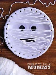 Mummy Paper Plate La