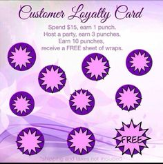 Jamberry customer loyalty rewards card. Http://beautifulperfection ...