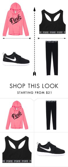 """Just chillin"" by zdecker ❤ liked on Polyvore featuring Victoria's Secret and NIKE"