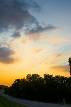 Back road sunset.