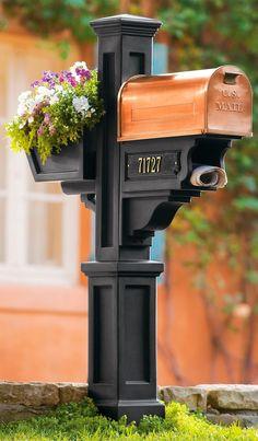 Post, Mailbox, Flower Box, and Newspaper Holder
