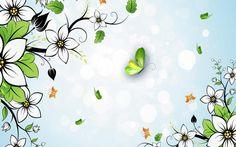 Summer White Flower Wallpaper