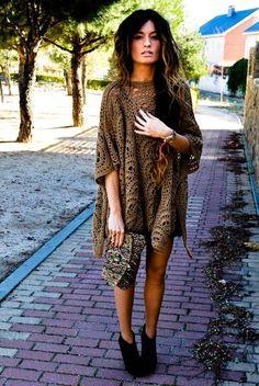 effortless, hair, baggy dress