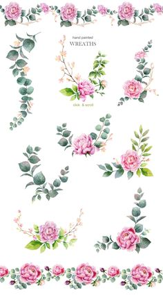 I am very pleased to present to you my Wedding Watercolor Collection. The perfect design for greeting cards, digital projects, scrapbooking, decoration for Watercolor Wedding, Watercolor Print, Floral Illustrations, Graphic Illustration, Pool Paint, Bullet Journal Key, Clip Art, Decoupage Vintage, Flower Doodles
