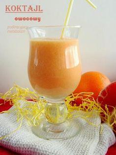 Zdjęcie: Koktajl owocowy ( podkręcający metabolizm ) Smoothie Drinks, Smoothie Diet, Smoothies, Cocktail Drinks, Cocktails, Healthy Drinks, Healthy Recipes, Nutribullet, Sweet Recipes