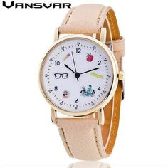 15b1130943f 2.69  Buy here - Vansvar Fashion Leather Watch Women Quartz Watch ...