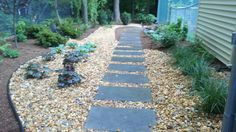 replace the sidewalk down the side of the house with this.. permeable