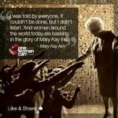 Mary Kay Ash & Mary Kay Cosmetics. I love my business!
