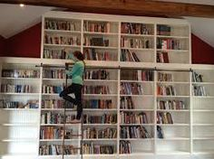 Image result for modern white library room