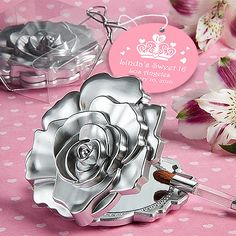 Realistic Rose Design Mirror Compacts at Elegant Gift Gallery. We're your number one source for bridal shower favors and compact mirror favors. Fashioncraft favors at discount prices! Wedding Shower Favors, Bridal Shower Party, Gifts For Wedding Party, Party Gifts, Bridal Showers, Wedding Ideas, Wedding Stuff, Craft Wedding, Wedding Things