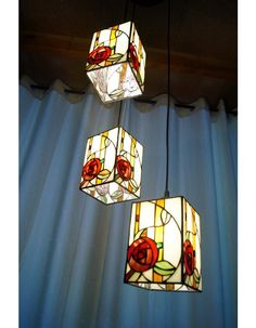 AMAZING TIFFANY HANGING LAMP,3 floral SHADES  http://tiffanylamp.com.au