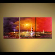 paintings of sailboats | ... Abstract Art - Modern Art and Landscape Paintings by Osnat Tzadok